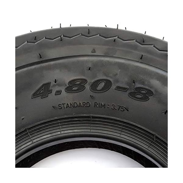 Pneu de remorque 4.80/4.00-8 4 plis pour jantes de 20,3 cm Charge maximale 265 kg nominale 130 km/h