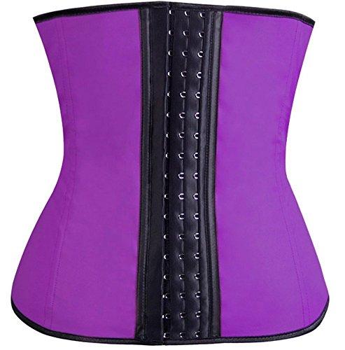 The Cane Women's Perfect Waist Firm Compression Waist Trainer Cincher Corset Color Purple Size XL