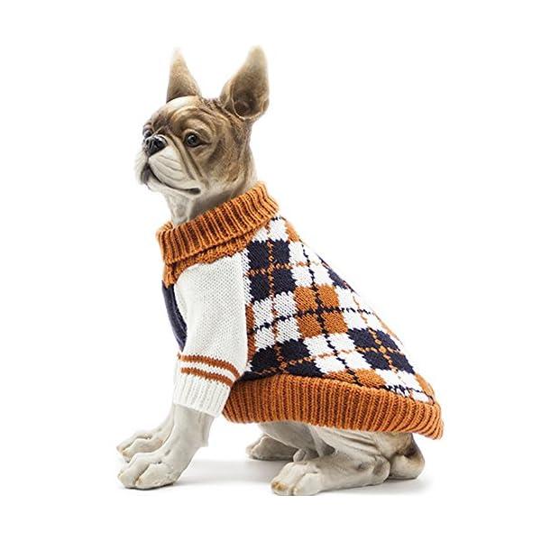 HAPEE Pet Clothes The Diamond Plaid Cat Dog Sweater, Dog Accessories, Dog Apparel,Pet Sweatshirt 1