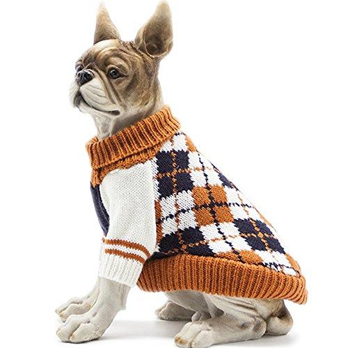 HAPEE Pet Clothes The Diamond Plaid Cat Dog Sweater, Dog Accessories, Dog Apparel£¬Pet Sweatshirt