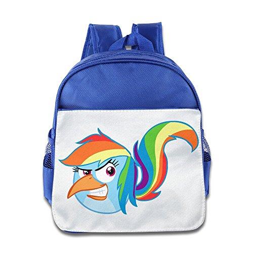 XJBD Custom Cool Horse Bird Children Schoolbag For 1-6 Years Old RoyalBlue for $<!---->