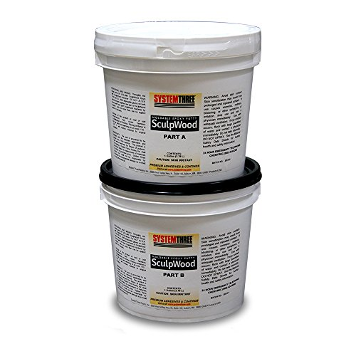 System Three 1600K50 Brown SculpWood Putty Kit, 2 gal Tubs by System Three