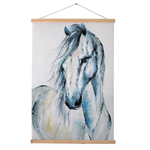 YOSEE Cotton Horse Scroll Painting Home Decor Ready for Hang