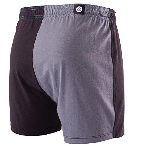 Stance Split Screen Boxer Shorts - Black -Large