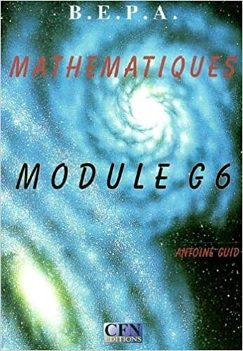 Download Mathématiques BEPA : Module G6, Manuel pdf epub