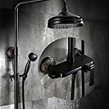 TY Antique Centerset Rain Shower with Ceramic Valve Single Handle Three Holes for Oil-rubbed Bronze , Shower Faucet