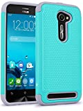 ZenFone 2E Case, LK [Drop Protection] [Shock-Absorption] Hybrid Dual Layer Armor Defender Protective Case Cover for ASUS ZenFone 2E (Teal)