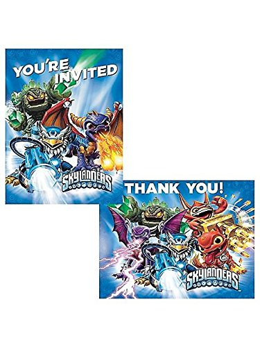 Skylanders Invitation/Thank You Set (16 Pack) - Party Supplies
