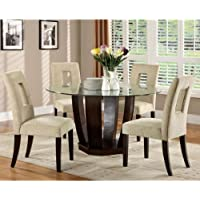 247SHOPATHOME IDF-3625T-5PC Dining-Room-Sets, Clear
