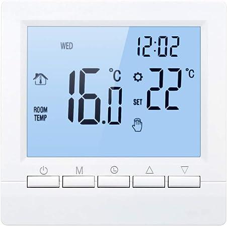 Galapara Thermostat programmable Intelligent pour Chauffage de chaudi/ères /à gaz Intelligent Contr/ôleur De Temp/érature Num/érique APP /écran LCD pour /École /À La Maison Bureau H/ôtel 16A