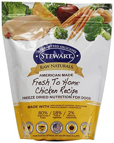 Raw Naturals by Stewart Freeze Dried Dog Food in Resealable Pouch, 12-Ounce, Chicken by Stewart by Stewart
