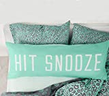 Funny Body Pillow Cover for Bed Teal Blue Hit Snooze Body Pillowcase with Zipper Silky Long Body Pillow Case 20''x 54'' Machine Washable