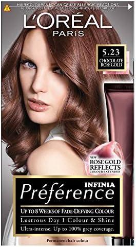 L Oréal Preferencia INFINIA 5.23 Chocolate Oro Rosa Permanente tinte de pelo