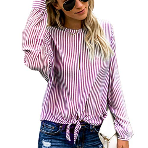 Femmes Design Chemisier Casual Rouge TianBin Verticale Rayure Lche Style Noeud Taille de qfydZw