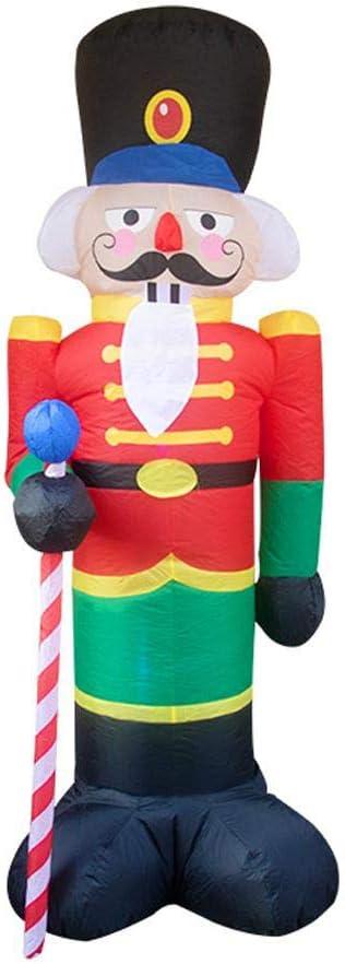 Euopat Christmas Decoration, Christmas Inflatable Santa Claus Soldier, Fiestas, Céspedes Y Festivales Se Puede Usar En Interiores Y Exteriores