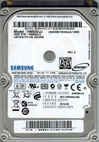 - Samsung HM500JJ SPINPOINT 500GB P/N: 35801-K14A-A1FA2