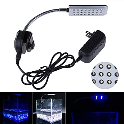 Mingdak® LED Clip Aquarium Lights Kit for Fish Tanks,white & Blue by Mingdak