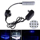 Mingdak LED Clip Aquarium Lights Kit For Fish Tanks,24 LEDS,Light color White and Blue