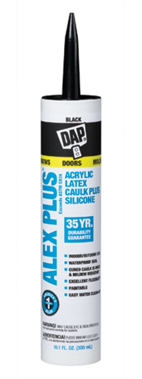 Dap Black Alex Plus Acrylic Latex Caulk Plus Silicone 18126 ブラック ブラック B001CEMV78