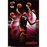Heat - Lebron James Poster 22 x 34in