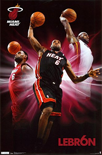 (Heat - Lebron James Poster 22 x 34in)