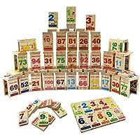 Vivir Alphabets And Numbers Printed Digital Dominoes Blocks Stacking Toys For Kids (Digital)