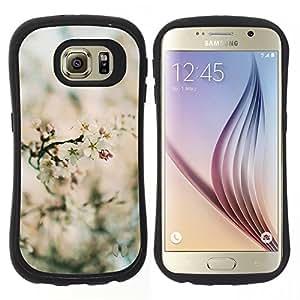 """Pulsar iFace Series Tpu silicona Carcasa Funda Case para Samsung Galaxy S6 , Primavera Focus Campo Flor Flores Naturaleza"""""""