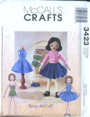 McCall's 3423 - Retro Betsy McCall Doll and Clothes - Patterns (McCall's Crafts)