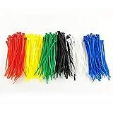 HS Multi Color Zip Ties Small Self Locking Nylon