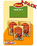 Shan Chicken Tikka BBQ Mix Masala Seasoning 1.75oz., 50g (3-Pack) Free Recipe Included Exclusive Fro...