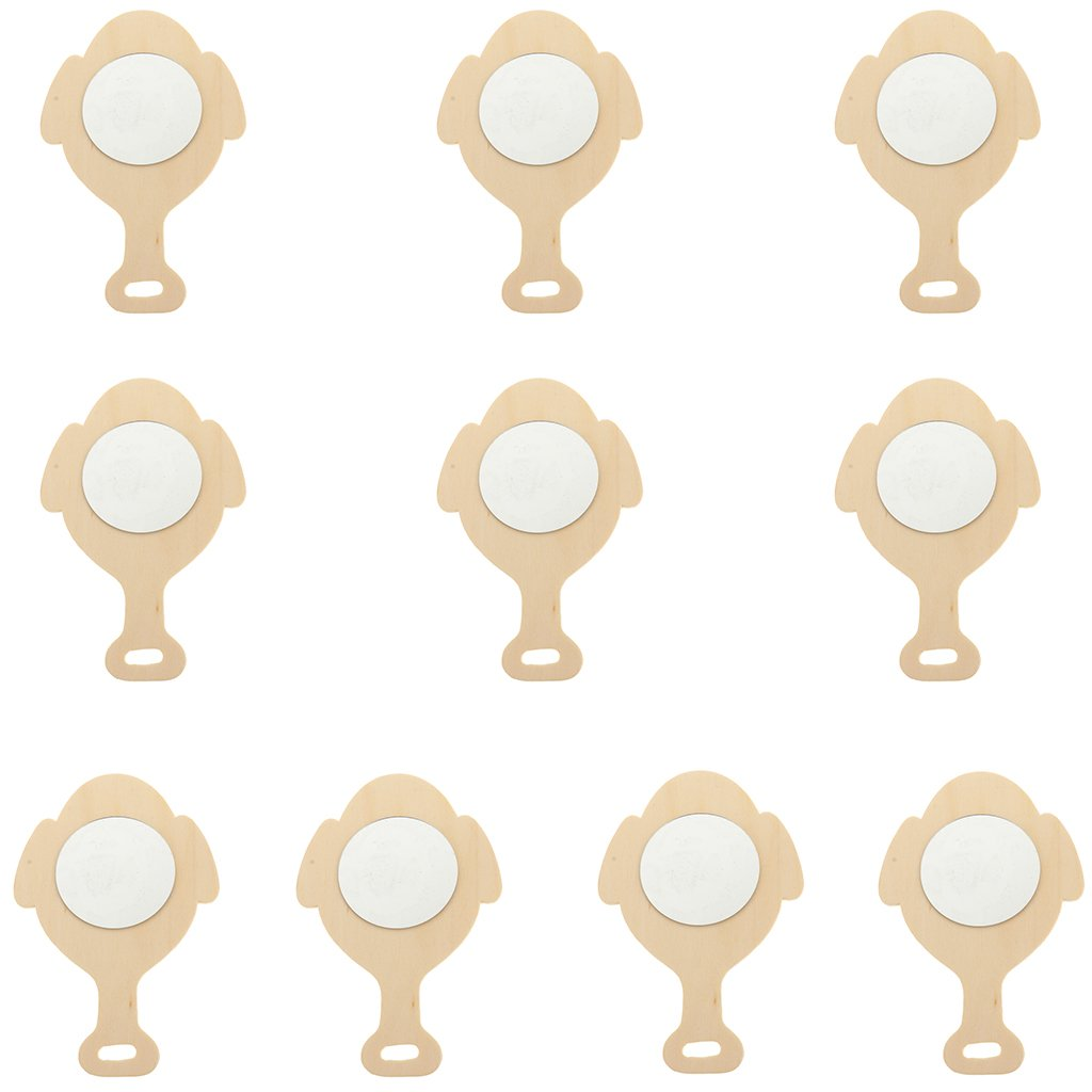 8 St/ück Holz Set Sharplace Sortiert Unfertige Holz Handspiegel F/ür Kinder DIY Handwerk Spielzeug