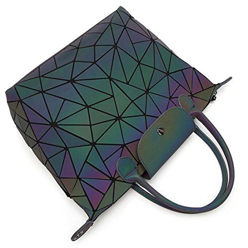 HT Shoulder Handbag, Borsa a spalla donna Fluorescent black