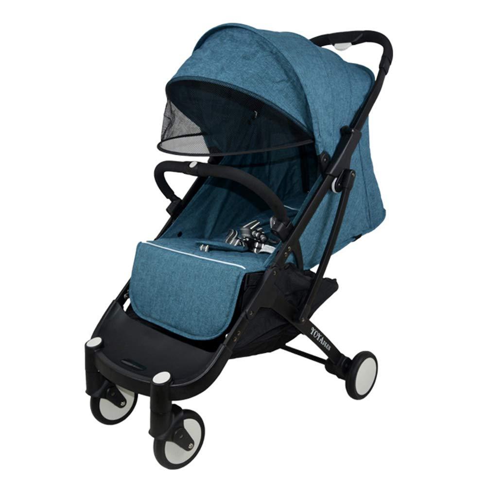 0-36ヶ月の赤ちゃんの使用に適した新生児や幼児、オールテレイン軽量フィットネスジョギングベビーカーのためのベビーカー  Dark blue B07N7ZPPGR