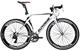Eurobike XC7000 14 Speed Road Bike 54 cm Light Aluminum Frame 700C Road Bicycle White
