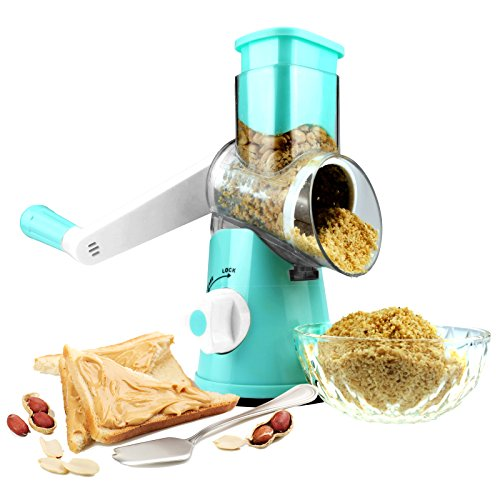 Round Mandoline Drum Slicer Rotary Cheese Grater Vegetable Slicer Cauliflower Nut Chopper