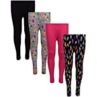 dELiA*s 4 Pack Girl's Basic Yummy Active Leggings (Solids & Prints)