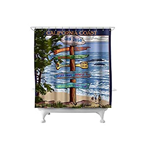 51kmQetLfaL._SS300_ 200+ Beach Shower Curtains and Nautical Shower Curtains