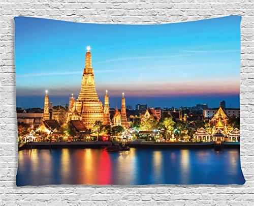 ambesonne-asian-decor-collection-wat-arun-night-view-temple-in-bangkok-thailand-cityscape-reflection