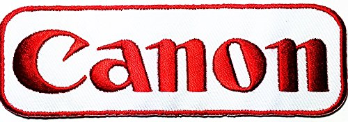 Canon red white DSLR Digital Camera logo patch Jacket T-shirt Sew Iron on Patch Badge Embroidery