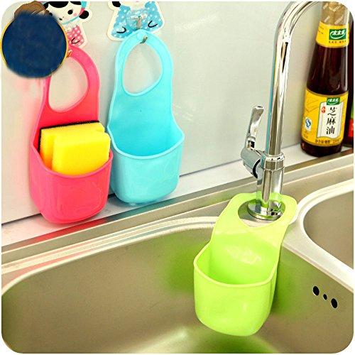 EQLEF® Schwamm Storage Box Rack-Korb Wäsche-Tuch Toilettenseife Regal Organizer Küche Badezimmer Gadgets Spüle Regal Bag