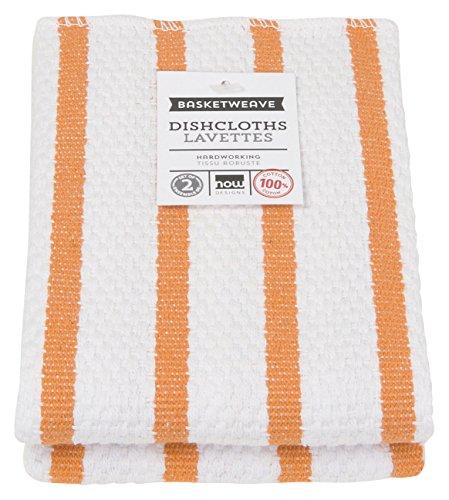 - Now Designs Basketweave Kitchen Dishcloth, Set of Two, Kumquat Orange