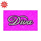Sticker (Rectangle) (10 Pack) Pink Diva Princess