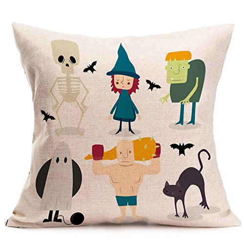 HomeMals Canvas Throw Pillow Case Shell Couch Bed Home Decoration Halloween Roses Floral Skull inches Black Grey -