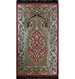 Prayer Mat - VERY THIN Islamic Namaz Sajadah Janamaz Taffeta Red