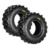 Qind Set of 2 Tires All-Terrain Tyre 18x7-8, 4-PR, ATV/UTV Load B Tubeless