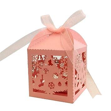 ce21fd5106 Scatola di caramelle regalo scatola di Natale fiocco di neve vuota Può  essere utilizzato per la