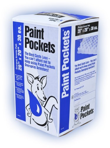20 x 20 - Paint Pockets WHITE Overspray Arrestor by Paint Pockets