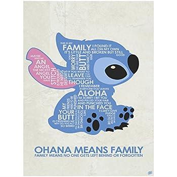 Amazon Com Ohana Means Family Word Art Print Poster 9