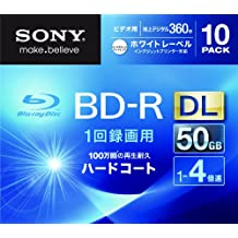 Sony Blu-ray Disc 10 Pack - 50GB 4X BD-R DL White Inkjet Printable for VIDEO - 2012 (japan import)