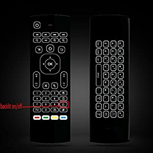 SZILBZ MX3 Pro Backlight Air Remote Mouse,Android TV Remote Control,IR learning Fly Air Remote Mouse For Android TV Box.HTPC.IPTV.Pad.PS3/PS4.